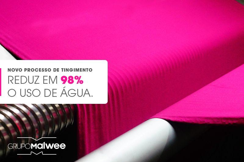 Novo processo de tingimento reduz em 98% o uso de água