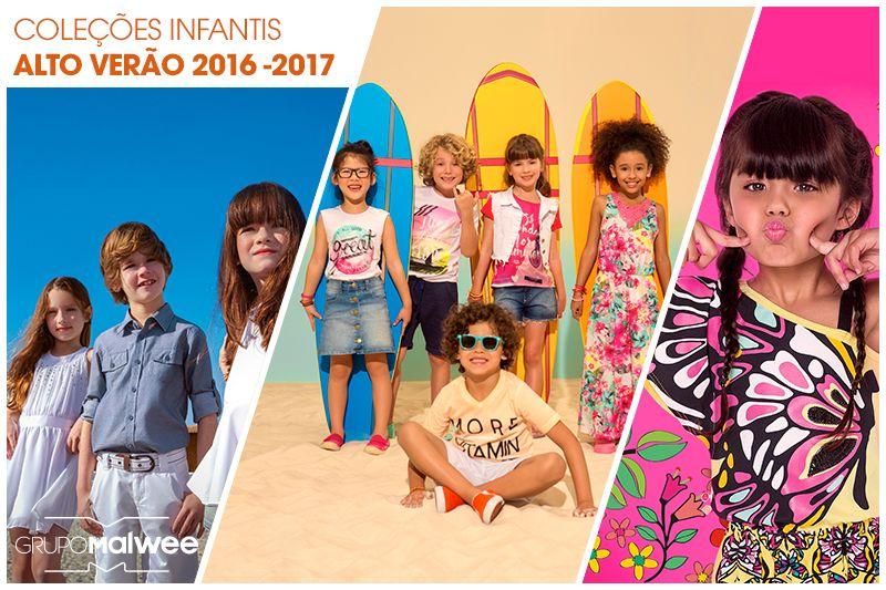 Coleções Infantis Alto Verão Grupo Malwee: cores, fofura e muito estilo!
