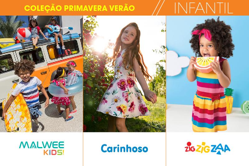A criançada está pronta para curtir as próximas estações com o colorido da coleção Primavera - Verão 2017