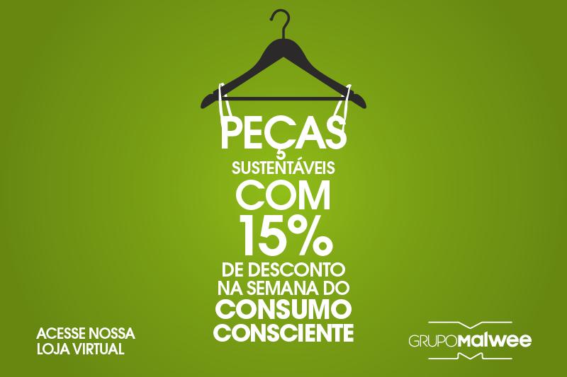 Moda Consciente: 15% de desconto em produtos com pegada sustentável!