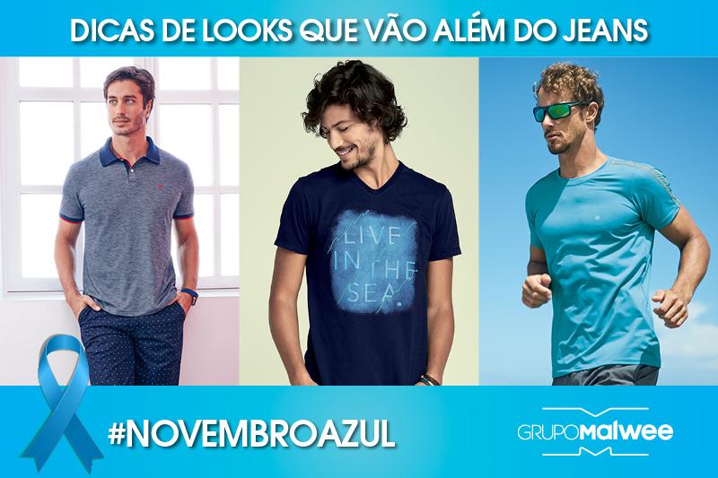 Novembro Azul - Vestir o azul em grande estilo vai além do jeans! Quer saber como?