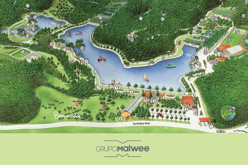 Conheça o Parque Malwee em toda a sua extensão!
